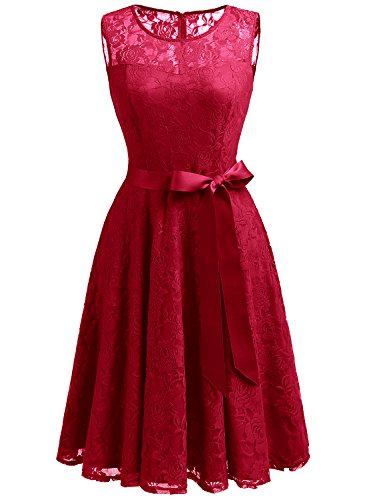 Kleid kurz dunkelrot