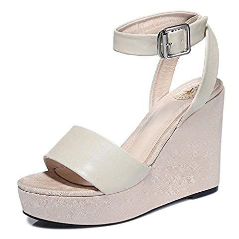 Guciheaven Women's Enticing Patent PU Simple Concept Wedges