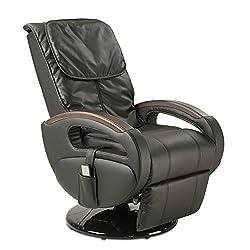 maxVitalis massage chair shiatsu & vibration massage, swivel TV armchair, relaxation armchair on casters, electrically adjustable, incl. Body service, body scan, 6 massage programs (black)