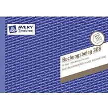 10 x Avery Zweckform Formularbuch Buchungsbeleg A5 weiß VE=50 Blatt