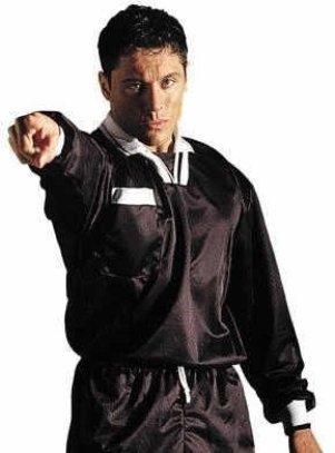 OSG Fußball Schiedsrichter Hemd Mit Kurzem Arm Multi-Sport Schiedsrichter Oberteile Kostüm Jersey - Schwarz, X-Large