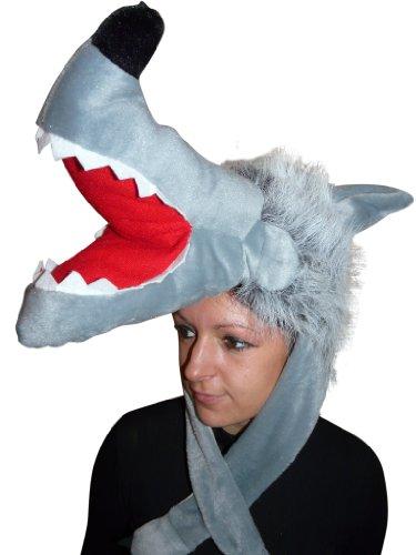 Wolf-Mütze, F73, One Size, Fasnachts-Kostüme Tier-Kostüm, Wolfs-Kostüme Wölfe -