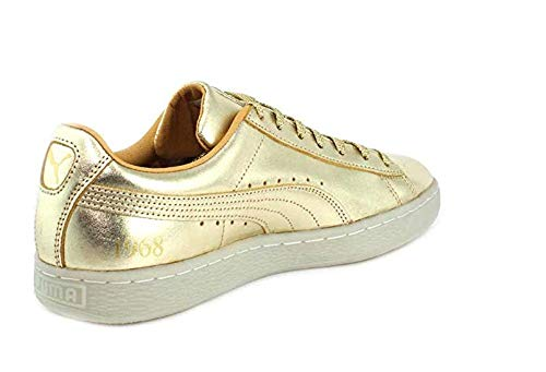 (PUMA Mens Suede Classic (50th Anniversary) Gold/Gold Sneaker - 10.5)