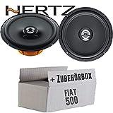 Hertz DCX 165.3-16cm Koax Lautsprecher - Einbauset für Fiat 500 Heck - JUST SOUND best choice for caraudio