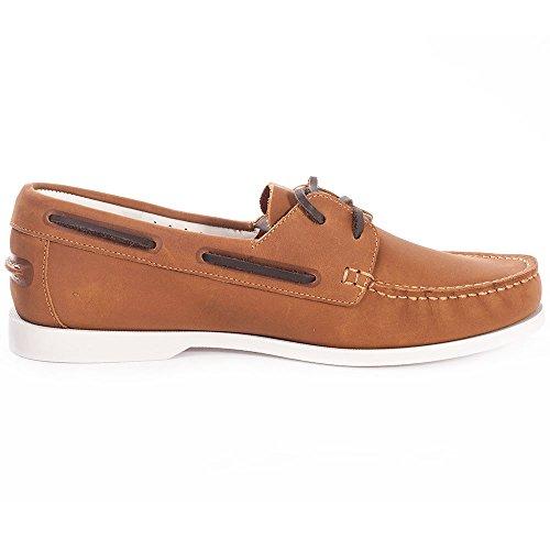 Lacoste Navire Premium Hommes Chaussures bateau Tan