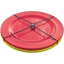 ZAK! Designs BBQ 2073-4410 - Juego de 4 platos llanos, 28 cm