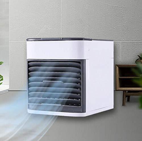 Klimaanlage Fan Mini Luftkühler USB kleinen kalten Lüfter kleine Klimaanlage Wasseraufbereitung Feuchtigkeitsspendende Desktop-Lüfter kann für zu Hause Schlafsaal Büro, Sommer Komfort Produkte verwend -