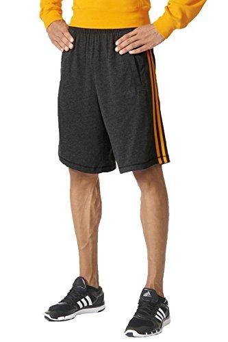 Shorts Adidas Schwimmen (adidas Herren ESS THE Shorts, Grau/Orange, M, 4056561913392)