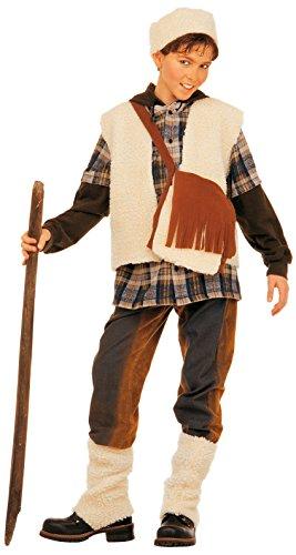 Kostüm Hirten - Widmann-Set Kostüm Hirte Boys, Mehrfarbig, 140cm, vd-wdm36737