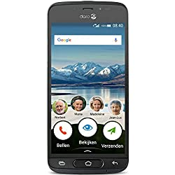 Doro 8040 Smartphone (12,7 cm (5 Zoll) Display, 16 GB Speicher, Android 7.0) graphit