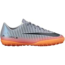 Botas Nike Victory 6 Cr7 Gris/Naranja Suela Turf Niño