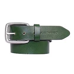 JUSTANNED Mens Belt (JTMBL051-5-28_Green_28)