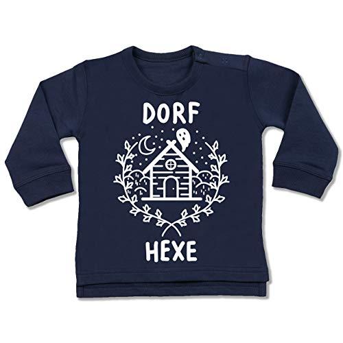 Shirtracer Anlässe Baby - Dorfhexe Halloween - 6-12 Monate - Navy Blau - BZ31 - Baby Pullover