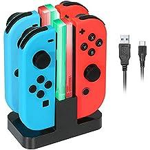 ReaLink 4 en 1 Chargeur Switch Manettes Joy-Con Charging Dock avec Indicateur LED