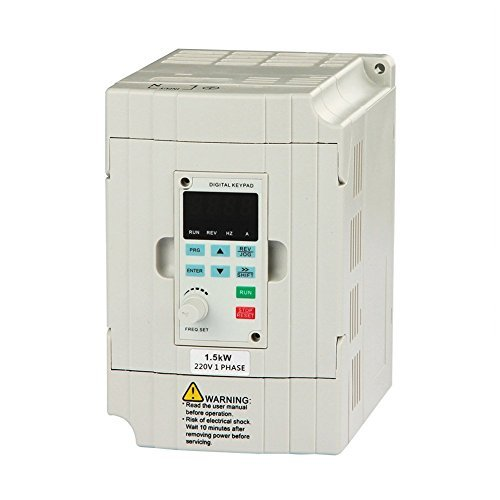 GENORTH SVD-ES Serie Single Phase VFD Drive VFD Inverter Professional Variable Frequency Drive 1.5KW 2HP 220V 7A für die Motorgeschwindigkeit (VFD-1.5KW) -