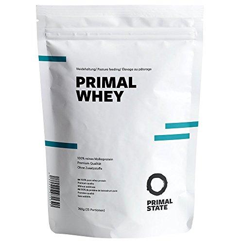 Eiweißpulver neutral | PRIMAL WHEY Proteinpulver | 100% reines Premium Molkeprotein aus irischer Weidehaltung | Low Carb Protein zur Erhaltung & Zunahme der Muskelmasse | Geschmacksneutral und ohne Zusatzstoffe | 760g
