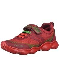 Geox J Bernie a, Zapatillas para Niñas, Multicolor (White/Multicolor c0653), 32 EU