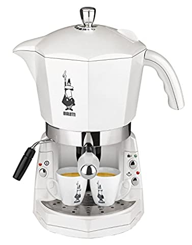 Mokona BIALETTI CF40Maschine Caffe 'Espresso trivalente: Kapseln Aluminium Bialetti, Kaffeepads ESE und Caffe Gemahlener'. Auslauf Cappuccino Farbe Weiß Creme Neu