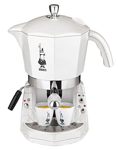 MOKONA BIALETTI CF40 MACCHINA CAFFE' ESPRESSO TRIVALENTE: CAPSULE ALLUMINIO BIALETTI, CIALDE ESE e CAFFE' MACINATO. EROGATORE CAPPUCCINO COLORE BIANCO PANNA NUOVA