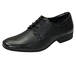 Arrow Mens Black Leather Formal Shoes -9 UK/India (43 EU) (10 US)