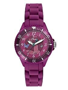 s.Oliver Mädchen-Armbanduhr Analog Quarz Silikon SO-2595-PQ
