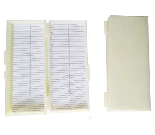 Aufbewahrungsbox mit 50 Steckplätzen für Glas-Objektträger, weiß, 1 -