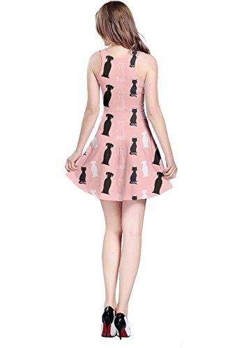 CowCow Damen Kleid Rosa Pink Korallenrot