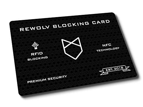 RFID Blocker Karte - Premium - Eine Karte schützt die gesamte Geldbörse vor Datendiebstahl - ohne RFID Schutzhülle Kreditkarten - Neuste Technologie und erhöhter Schutzradius (NFC) -