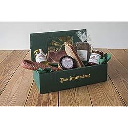 Schinken-Wurst Präsent Ammerland Nr. 37 mit geräuchertem Katenschinken, Lachsschinken, luftgetrockneter Mettwurst, Tomatenleberwurst, Schwarzbrot uvm.
