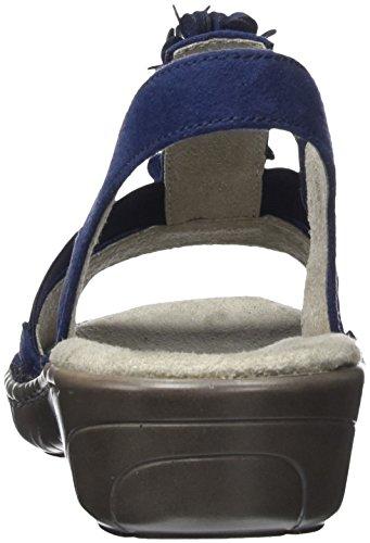 Jenny Damen Korsika T-Spangen Sandalen Blau (Blau, Jeans)