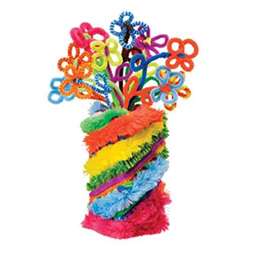 DHJFKSKH HS 1 STÜCKE 30 cm DIY Hand Handwerk Künstliche Blume Bunte Plüsch Eisendraht Beflockung Chenille Stick Pfeifenreiniger Kinderspielzeug, 1 stücke