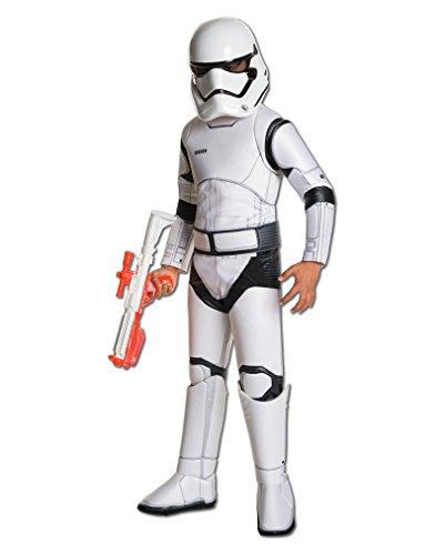 Star Wars 7 Kostüm Kinder Stormtrooper deluxe 3-tlg Overall Gürtel Maske weiß - M