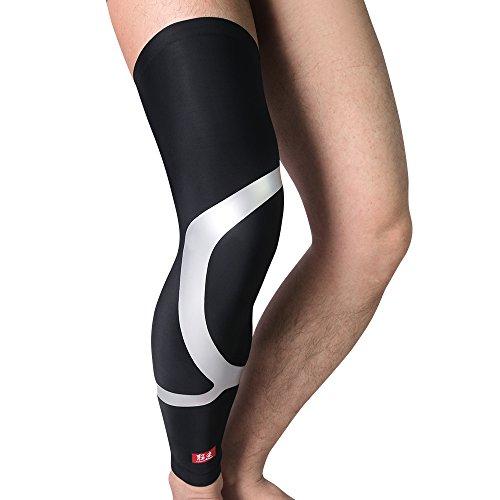 kuangmi manica ginocchio gamba energia compressione graduata Ease periostite dolore Ridurre Fatica e crampi 1pc, nero