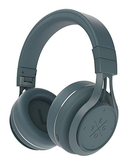 Kygo A9/600 Wireless Bluetooth 5.0 Over Ear Headphones, aptX® and AAC® Codecs, Built-in Microphone, NFC Pairing, Memory Foam Ear Cushions, 23 hours Playback, Kygo Sound App - Storm Grey Best Price and Cheapest