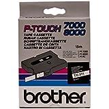 Brother Schriftbandkassetten TX/TX211 6mm weiß/schwarz