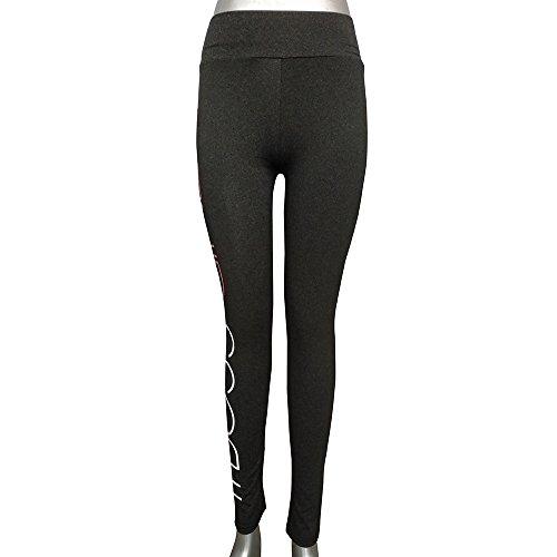 Ulanda-EU - Legging de sport - Femme Noir noir Small gris foncé