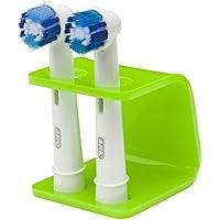 Seemii - Soporte para cabezales de cepillo de dientes electrónico, Soporta 2 ó 4 cabezales, Soporte Oral-B cabezales, Lima verde (2)