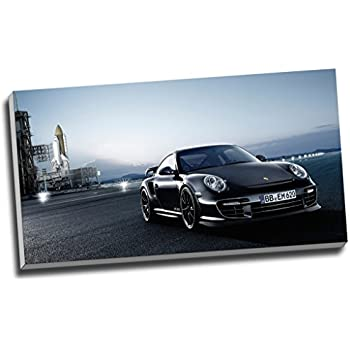 Art print POSTER Canvas Close-up Front View of Porsche 911 Turbo