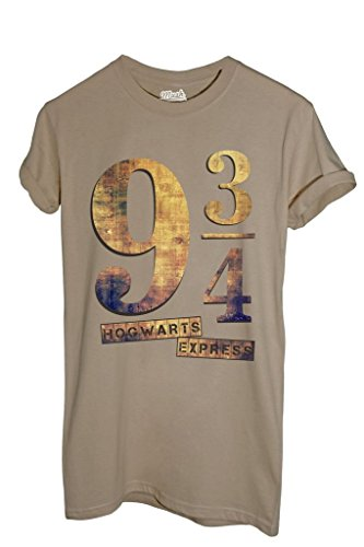 MUSH T-Shirt Platform 9¾ Hogwarts Express Harry Potter - Film by Dress Your Style - Damen-L-Beige