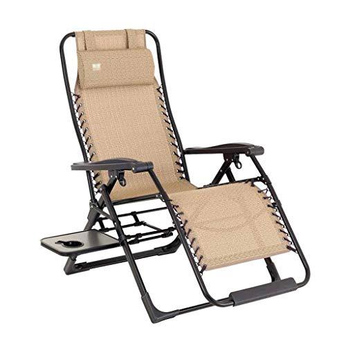 KLEDDP Liegestuhl Liegestuhl Gartenstuhl Bein zurücklehnen Klappstuhl (Wasser-kühler Beinen Mit)