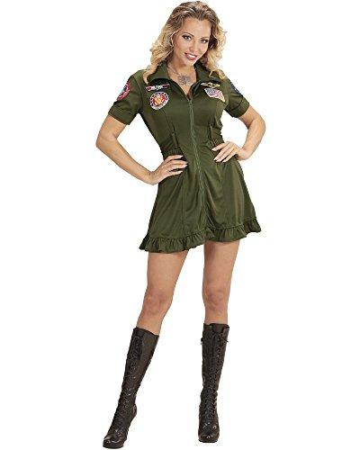 �Kostüm Piloten-Kampfjet, grün, Large (Fighter Jet Pilot Kostüm)