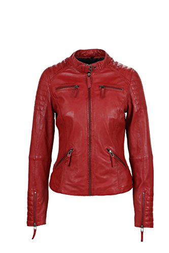 Freaky Nation Damen Jacke Say Yes, Rot (Red 4001), 40 (Herstellergröße: L)