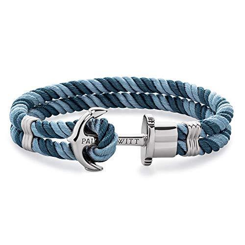 PAUL HEWITT Anker Armband Damen PHREP - Segeltau Armband Frauen (Niagara-Petrol), Armband Damen mit Anker Schmuck aus Edelstahl (Silber)