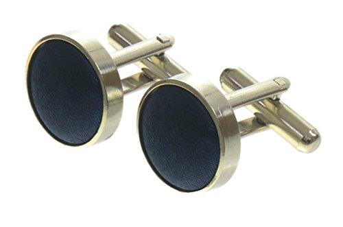 navy-high-quality-mens-silky-satin-cufflinks-uk-seller