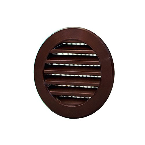 """Brown circle air vent grille 100mm//4/"""" rond ventilation conduits capot POW26BR"""