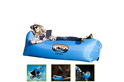 Cloud Nine Portable Inflatable Air Lounger with Carry Bag - Waterproof Inflatable Air Sofa for the Garden, Beach, Camping etc. - low-cost UK light shop.