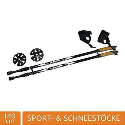 Wolf Black Pole, Nordic- Sport- Stöcke für Schneeschuhwandern, 140cm