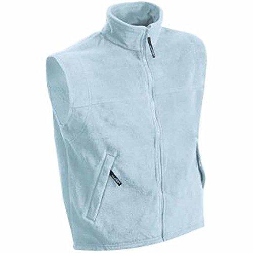 JAMES&NICHOLSON - veste gilet polaire sans manche bodywarmer JN045 - HOMME - Bleu clair