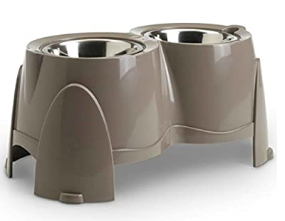 Practical Double Doggy Bowl - With the Right Height - Specifically Designed for Dogs with Health Problems and Those Suffering from Physical Problems from Savic