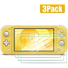 3 Pack Tempered-Glass Screen Protector for Nintendo Switch Lite, Transparent HD Clear Film Scratch Resistance [Bubble Free] [Anti-Fingerprint] Fit for Switch Lite
